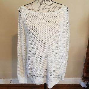 Pink Victoria Secret  Netted Long Sleeve Top